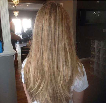 Blonde Highlights Dirty Balayage Ombre Natural