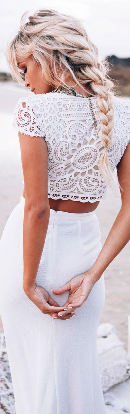 Wedding Braids Updo Wild White Waves Updos Summer