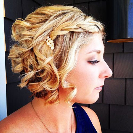 Wedding, Short Hairstyles, Updo, Strawberry, Prom