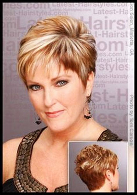 Short Hairstyles, Women, Older, White