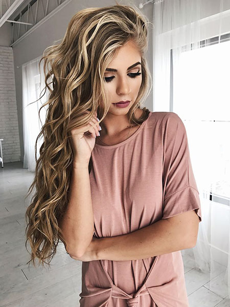 Blonde, Bold, Wavy, Waves, Lips, Fall, Dye, Dirty, Curled, Beach
