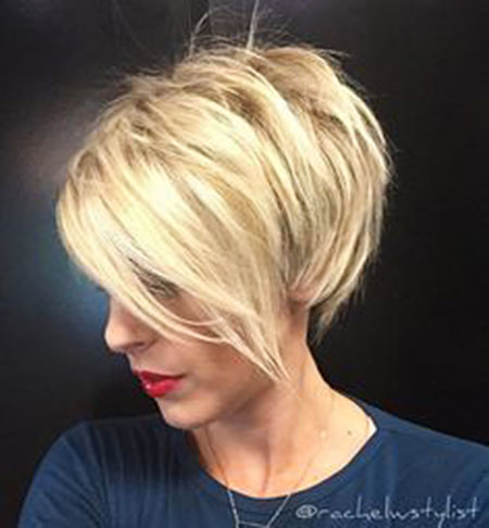 Blonde, Short, Bob, Bobs, Balayage, Women, Pixie