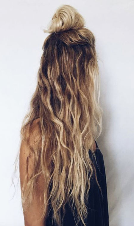 Wavy, Waterfall, Simple, Naturally, Messy, Buns, Braided