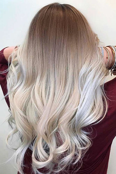 Blonde Balayage Shades Platinum Ombre Ash All