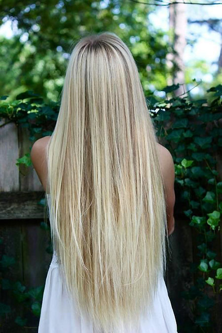 Blonde Straight Long Tips Slightly Silky Length