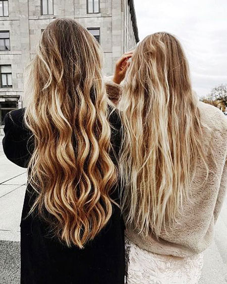 Blonde Highlights Balayage Women Simple