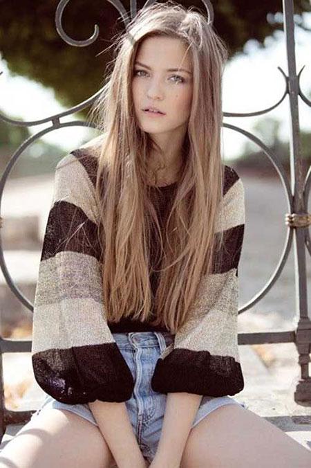 Blonde Long Dark Curly