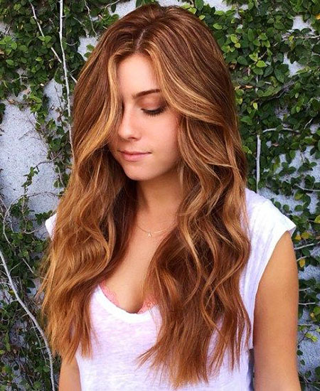 Strawberry, Blonde, Highlights, Brown, Balayage, Shades