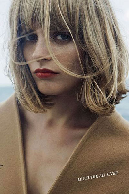 Blonde Bob Hairstyles, Short Hairstyles, Long, Jennifer, Fringe