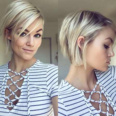 Short Hairstyles, Length, Chin, Blonde Bob Hairstyles, Women