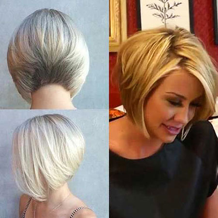 Short Hairstyles, Blonde Bob Hairstyles, Woman, Stacked