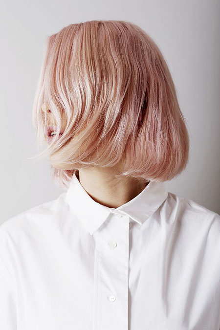 Short Hairstyles, Pink, Blonde Bob Hairstyles, Balayage, Ash, 2017