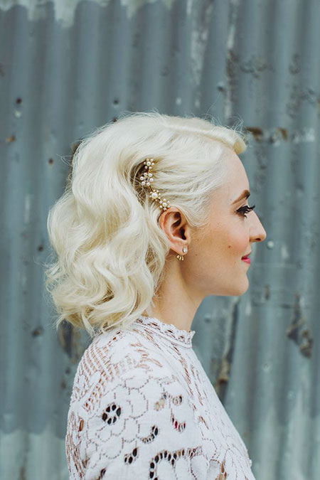 Wedding, Short Hairstyles, Bridal, Pretty, Lowlights