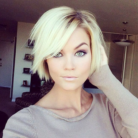 Blonde Bob Hairstyles, Women, Thin, Ombre, Choppy, Blonde Hairstyles