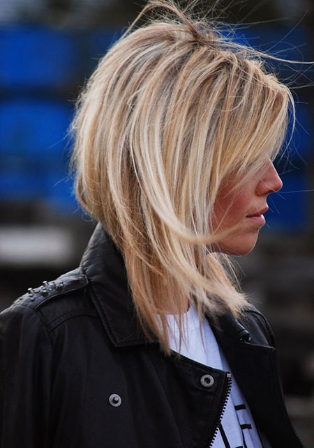 Blonde Bob Hairstyles, Short Hairstyles, Layered, Highlights