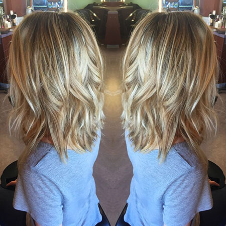 Short Hairstyles, Layered, Blonde Bob Hairstyles, Balayage, Women, Over