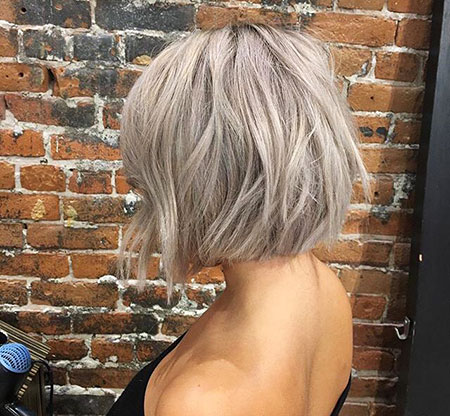 Blonde Bob Hairstyles, Blonde Hairstyles, Grey, Silver