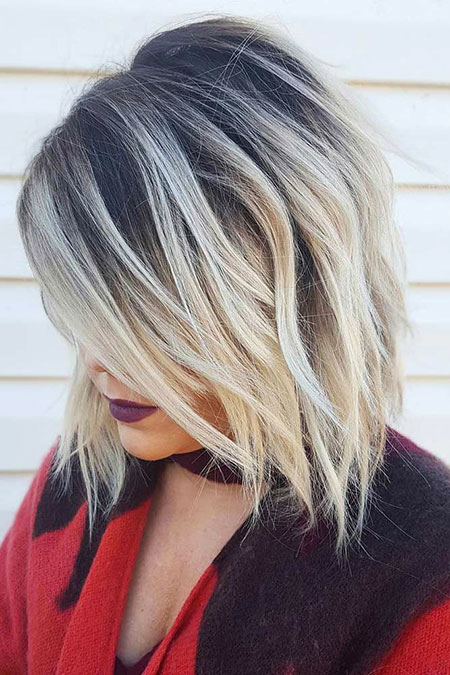 Blonde, Bob, Balayage, Short, Round, Faces, Trend, Face, Brown