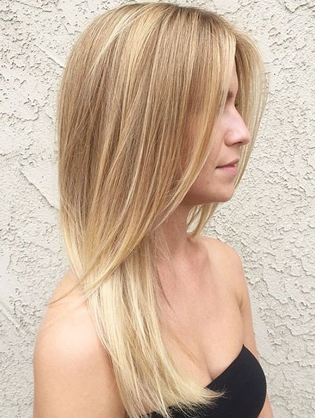Blonde, Balayage, Light, Warm, Tones, Skin, Simple, Side