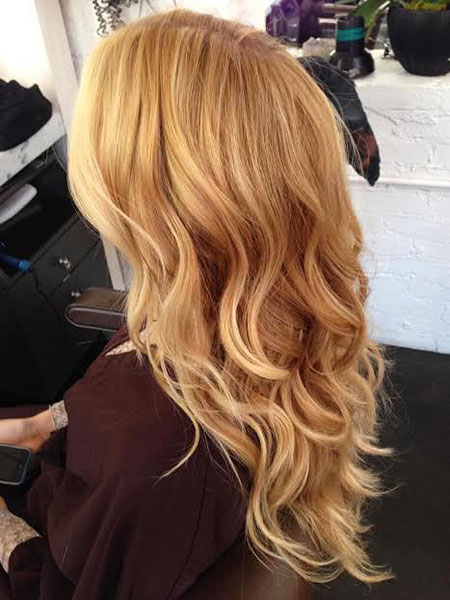 Blonde, Strawberry, Shades, Sandy, Ombre, Medium, Balayage