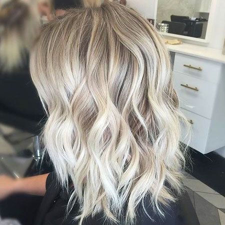 Blonde, Light, Ash, Balayage, Medium, Locks, Highlights