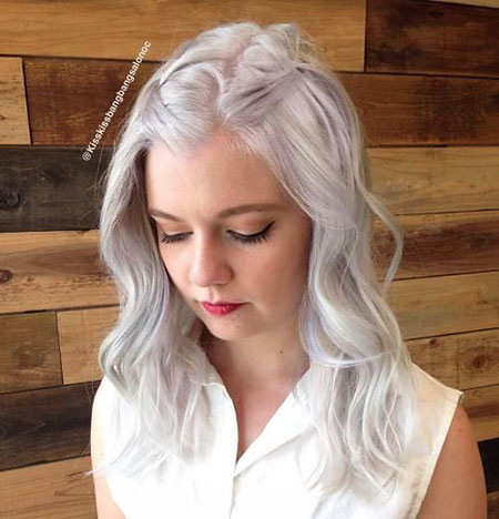 Blonde, Thin, without, Waves, Very, Trendy, Simple, Silver, Platinum, Modern