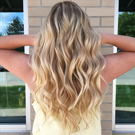 Balayage Blonde Volume Toned Ombre Extra