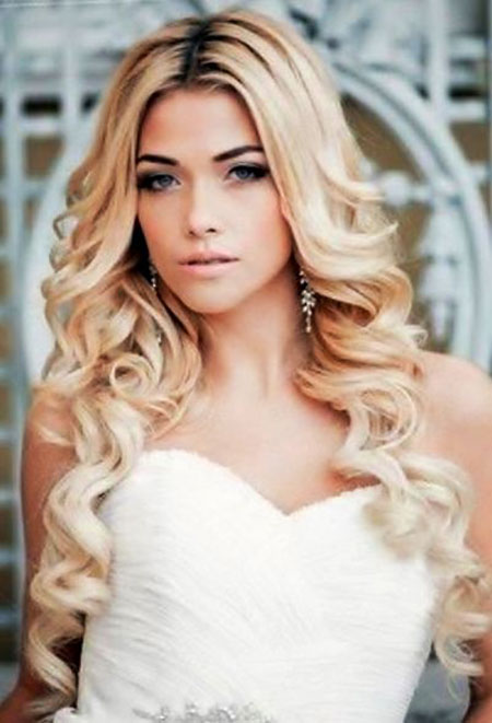 Wedding, Long, Simple, formal, Easy, Down, Day, Curly, Curls