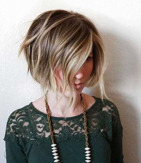 Blonde Bob Hairstyles, Short Hairstyles, Balayage, Wavy, Very