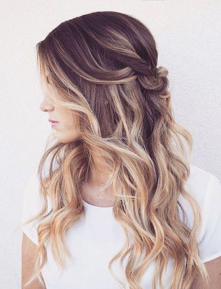 Blonde Wavy Ombre Brown Wedding
