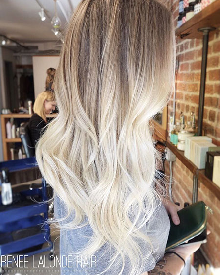 Blonde Balayage Ombre Platinum Long