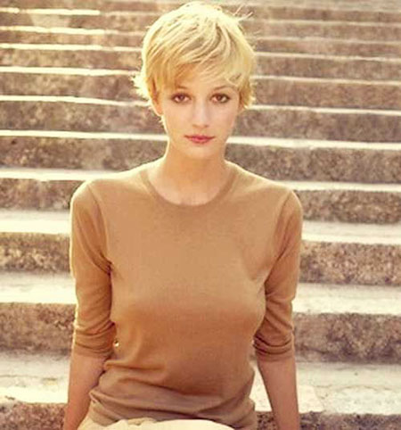 Pixie Cut, Short Hairstyles, Blonde Hairstyles, 2017, Shaggy