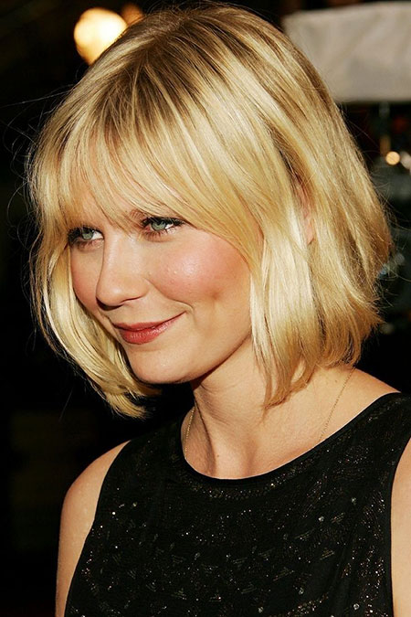 Short Hairstyles, Blonde Bob Hairstyles, Bangs, Women, Round, Fine