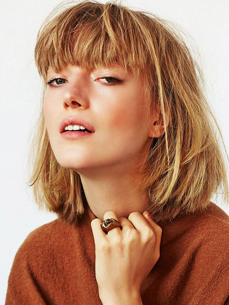 Short Hairstyles, Bangs, Women, Taylor, Swift, Choppy