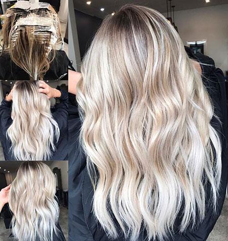 Blonde Balayage Colour Tones Textured Long Golden