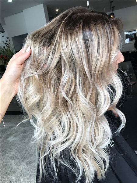 Blonde, Balayage, Long, Ash, Tones, Toned, Textured, Golden