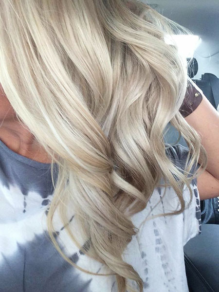 Blonde Highlights Light Balayage Ash Tips Summer Beige