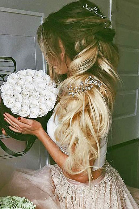 Wedding Year Weddings Updo Trend Short Round Ombre Long