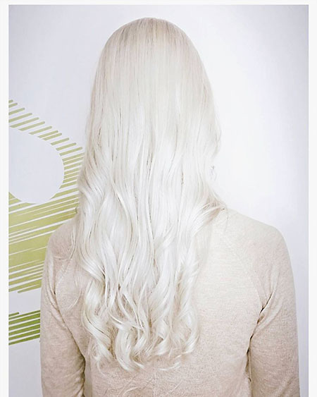 Blonde White Platinum Silver One Icy Balayage