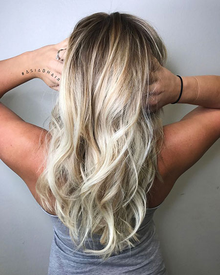 Blonde, Balayage, Highlights, Natural, Ombre, Bright