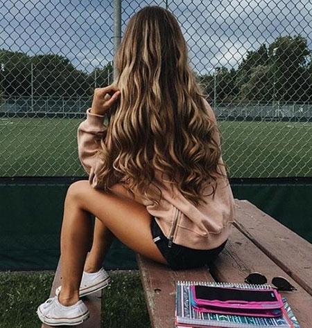 Long Goals Girls Curls Brown Blonde