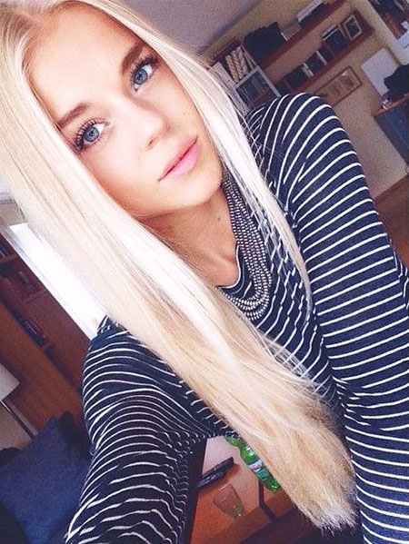 Blonde Sexy Platinum Long Eyes Blue