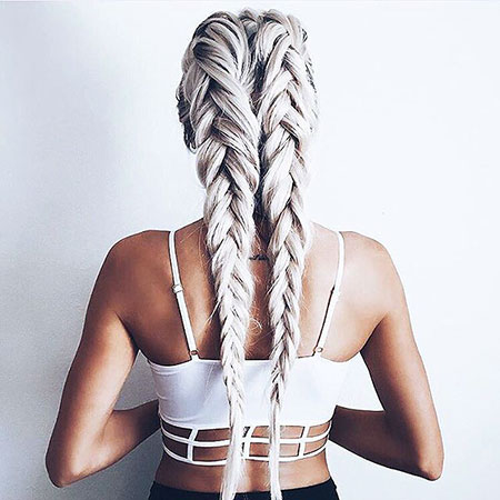 Braids, Braid, Blonde, Two, Trenza, Silver, İmages, Fashion