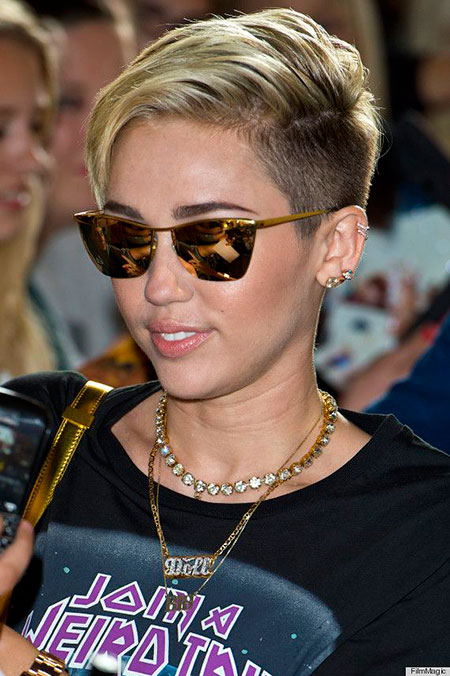 Under, Pixie, Miley, Justin, Cyrus, Sides, Shaved, Real