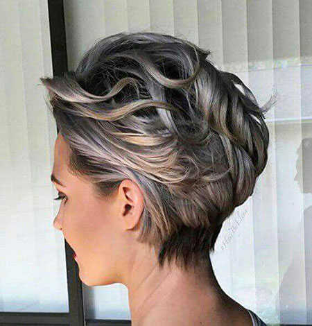 Wedding, Short Hairstyles, Updo, Silvery, Pixie Cut, Peinados