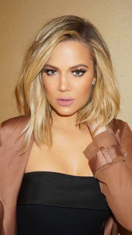 Khloe, Kardashian, Blonde Hairstyles, Blonde Bob Hairstyles