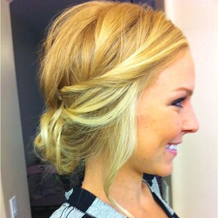 Blonde Bob Hairstyles, Short Hairstyles, Updo, Twisted, Shape, Round