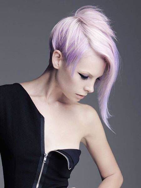 Short Hairstyles, Pastel, Round, Medium, Length, Faces, Edgy