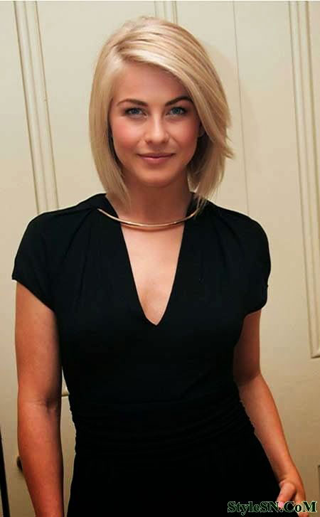 Short Hairstyles, Julianne Hough, Brown, Bang