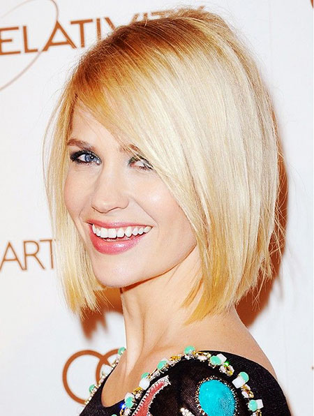 Blonde Bob Hairstyles, Short Hairstyles, Jones, January, Blunt